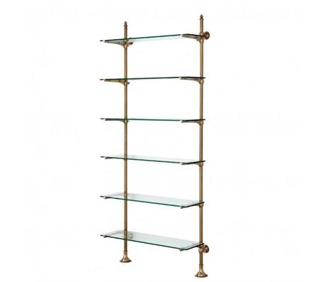 Cabinet Wall Pulitzer Single brass / glass