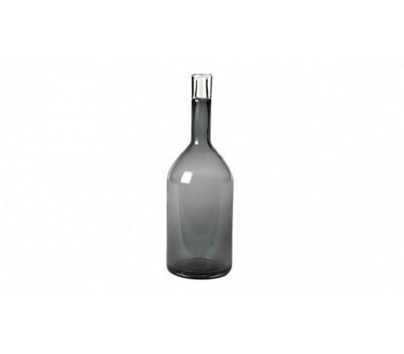 Бутылка стеклянная серая