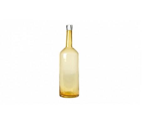 Бутылка высокая стеклянная янтарная
