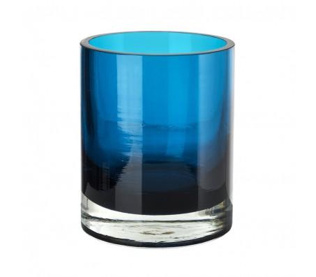 Подсвечник бирюзовый стеклянный