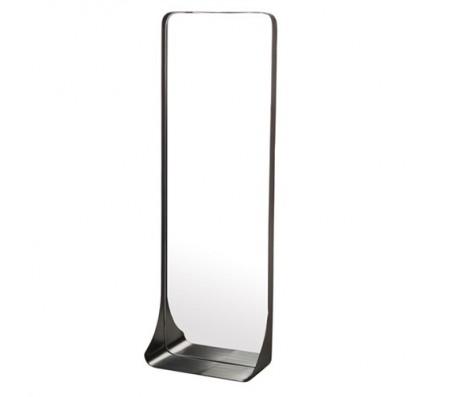 Зеркало металлическое с полкой M