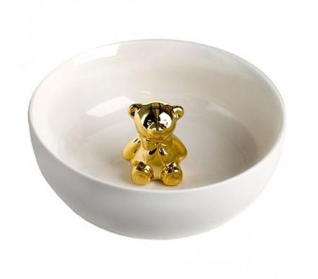 Чаша глубокая с золотым мишкой