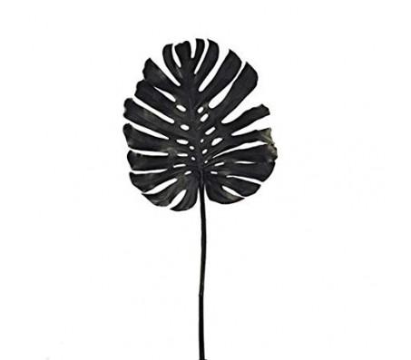 Декоративный лист монстеры ,черный
