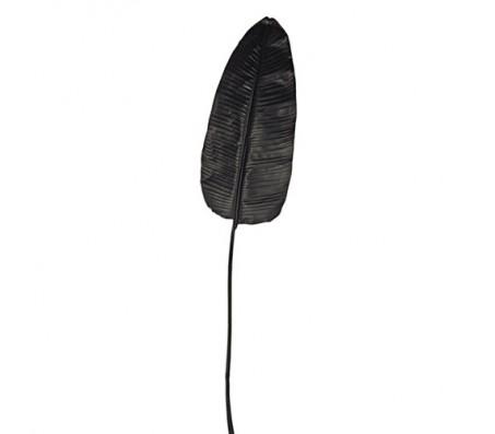 Декоративный лист банана, черный