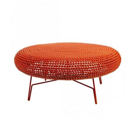 Кофейный столик оранжевый на ножках