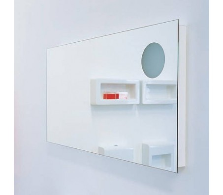 Зеркало с подсветкой Flaminia IO Simple Specchio 90x90 см