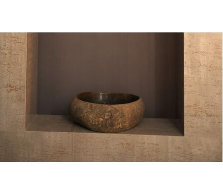 Умывальник из натурального камня (Италия) деревянный травертин