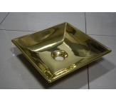 Умывальник керамический (Италия) отделка глянцевое золото