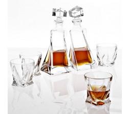 "Набор декантер и стаканы для виски Eichholtz ""Sapphire"", (сапфир)"