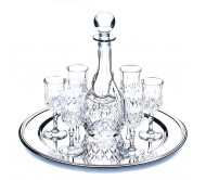 Набор для вина Chinelli Opera Round Tray декантер + 6 бокалов