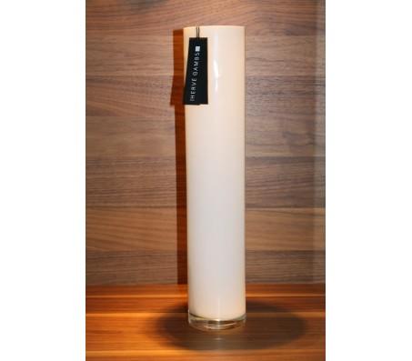 Стеклянная ваза Herve Gambs Harmony Tube белая 40см (Франция)