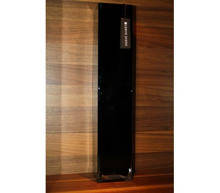 Стеклянная квадратная ваза Herve Gambs Recta черная 50см (Франция)