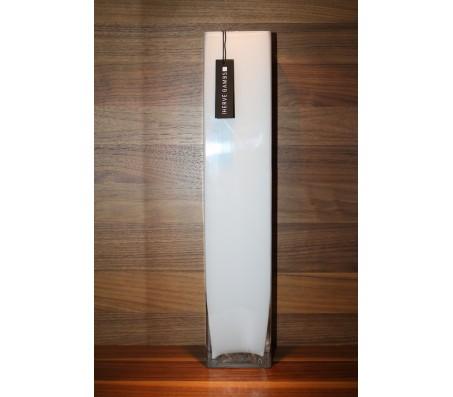 Стеклянная квадратная ваза Herve Gambs Recta белая 50см (Франция)