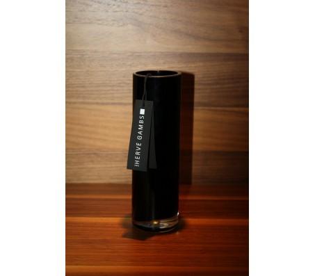 Стеклянная ваза Herve Gambs Harmony Tube чёрная 20см (Франция)
