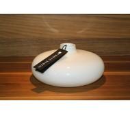 Стеклянная ваза Herve Gambs Anna белая 18см (Франция)