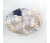Блюдо для закусок + 3 чаши - менажница Chinelli