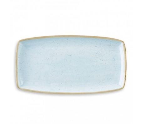 """Блюдо прямоугольное  Churchill Stonecast """"Duck Egg Blue"""""""