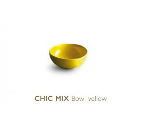 Тарелка глубокая Chic MIX, yellow