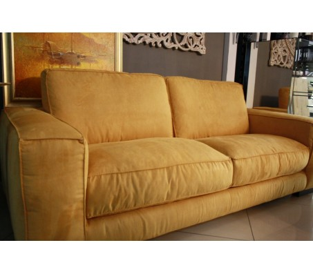 Диван   -  MondoSofa -MOD.SUN - Made in Italy - yellow