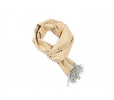 Шарф Exclusive Fishbone 100% шерсть альпака 30х200 см оранжевый/серебро