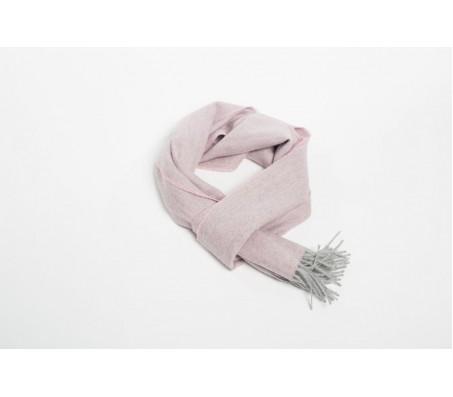 Шарф Exclusive Fishbone 100% шерсть альпака 30х200 см розовый/серебро