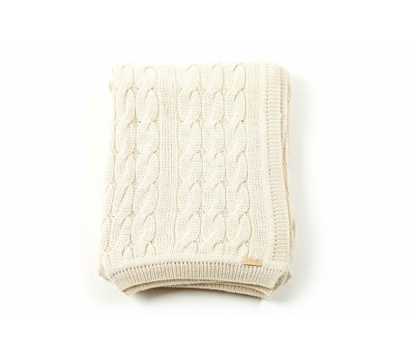 Плед из шерсти альпака Triinu (Перу) - 100% baby alpaka (130x180) white