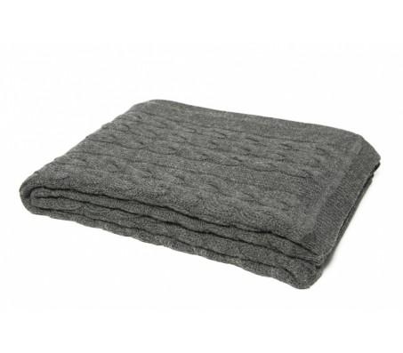 Плед из шерсти альпака Plaid Triinu (Перу) - 100% baby alpaka (70x140) gray