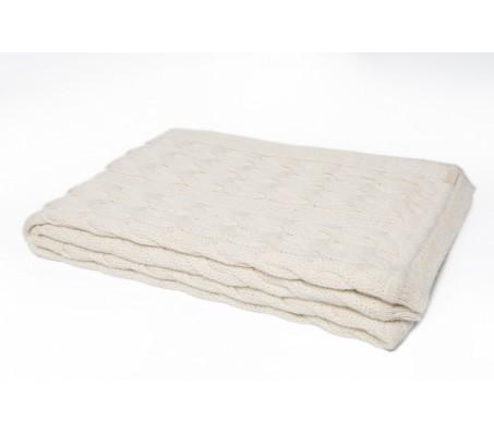 Плед из шерсти альпака Plaid Triinu (Перу) - 100% baby alpaka (70x140) white
