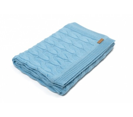Плед из шерсти альпака Plaid Triinu (Перу) - 100% baby alpaka (70x140) blue