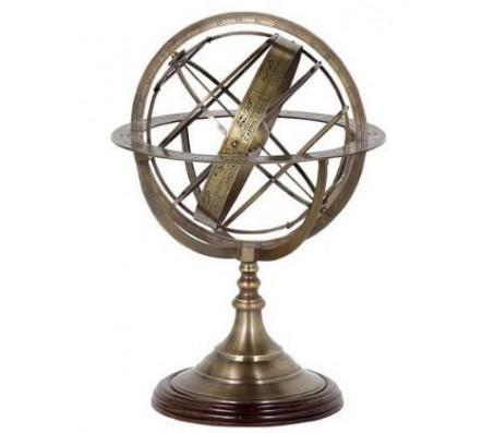 Глобус декоративный Eichholtz Globe Small античная латунь