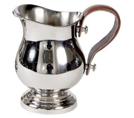 Кувшин Eichholtz Pitcher Large никель кожа