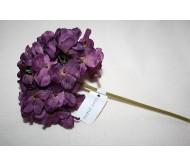 Искусственные цветы гортензия фиолетовая 28см Herve Gambs (Франция)