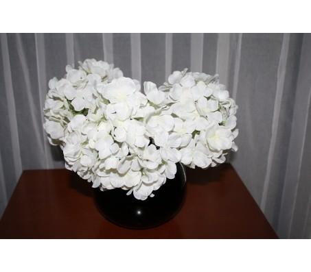 Искусственные цветы гортензия белая 28см Herve Gambs (Франция)