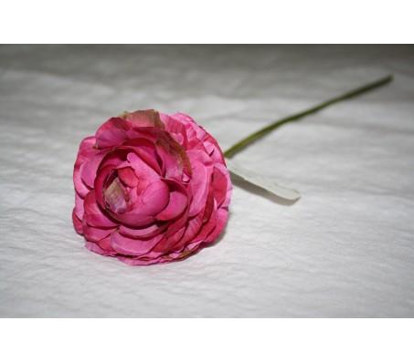 Искусственные цветы лютик фуксия 40см Herve Gambs (Франция)