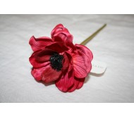 Искусственные цветы анемон фуксия 23см Herve Gambs (Франция)