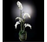 Композиция из искусственных цветов орхидеи в стеклянной вазе VGnewtrend (Италия)