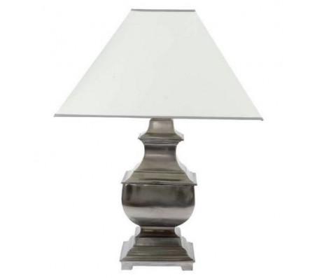 Светильник Eichholtz Lamp Silom никель с белым плафоном