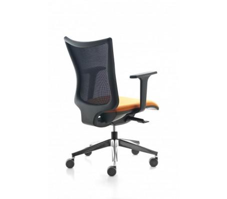Современный стул для офиса  KASTEL Kuper easy mesh, желтое