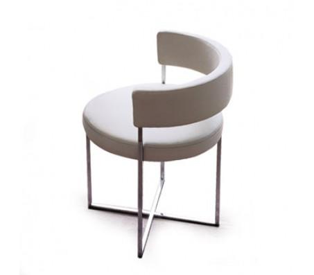 Кожаный стул с круглым сидением Porada Sirio бежевый (Италия)