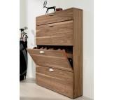 Шкаф для обуви Hulsta (Германия) 4 отделения шпон американский орех